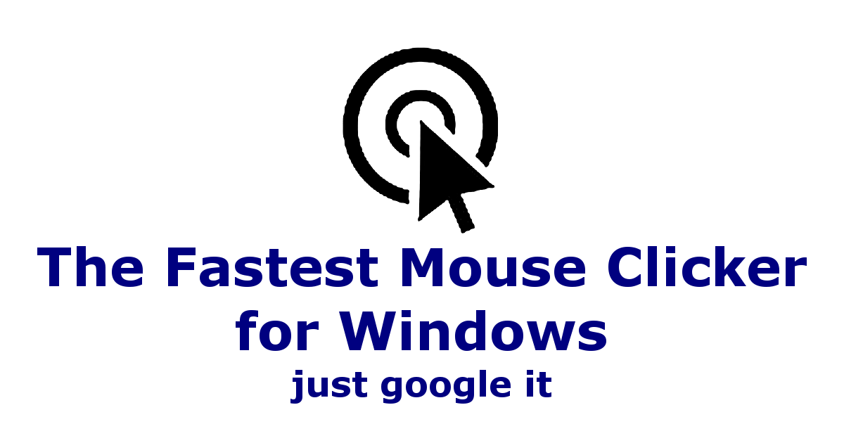 The Fastest Mouse Clicker for Windows - Download The Fastest Mouse Clicker for Windows for FREE - Free Cheats for Games